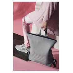 Go for classic and minimalistic look with Brockley backpack   Unisex grey leather rucksack. By Bagology London