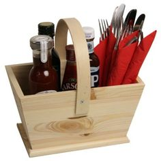 Wooden Trug Condiment Holder