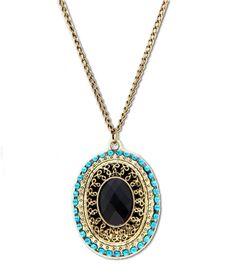 Bronce princesa en forma de collar de cristal Sólo $ 1.84!