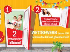 Gewinne mit SwissCaution 2 Monatsmieten! Zudem gibt es eine Jahresprämie von SwissCaution für 2 Jahre zu gewinnen.  Mach hier mit und gewinne: http://www.gratis-schweiz.ch/gewinne-2-monatsmieten/  Alle Wettbewerbe: http://www.gratis-schweiz.ch/