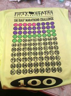 Fifty States Half Marathon Club LLC - 100 Half Marathons LADIES Sleeveles v-neck New Balance Tech Shirt, $32.95 (http://halfmarathonclub.mybigcommerce.com/100-half-marathons-ladies-sleeveles-v-neck-new-balance-tech-shirt/)
