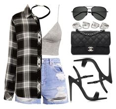 """""""#14657"""" by vany-alvarado ❤ liked on Polyvore featuring H&M, Rails, Topshop, Chanel and Yves Saint Laurent"""