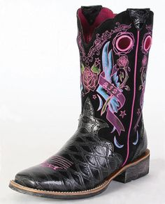 Ariat Cowboy Boots | ... Boots :: Fashion :: Pull-ons :: Ladies Cowboy Boots :: Cowboy Boots