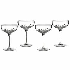Waterford Crystal Lismore Essence Saucer Champagne Flute, Set of 4 Waterford Crystal, Waterford Lismore, Crystal Stemware, Waterford Glasses, Crystal Champagne, Champagne Glasses, Champagne Saucers, Toasting Flutes, Australia