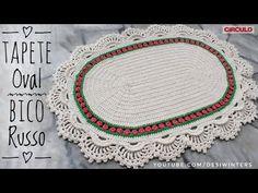Tapete Oval Bico Russo de Crochê - Artes da Desi YouTube