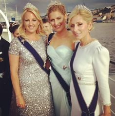 Theodora Tatiana and me❤⭐ Crown Princess Marie-Chantal, Princess Tatiana, and Princess Theodora of Greece and Denmark at the Wedding of Princess Madeleine and Mr Chris O'Neill Royal Crowns, Royal Tiaras, Royal Jewels, Princess Madeleine, Crown Princess Mary, Marie Chantal Of Greece, Greek Royalty, Greek Royal Family, Ernst August
