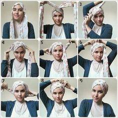 Very simple turban style hijab tutorial