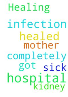 Healing -  Please pray that my mother is completely healed of kidney infection she just got out of the hospital and is sick again  Posted at: https://prayerrequest.com/t/pOs #pray #prayer #request #prayerrequest