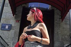 New Post / New handmade skirt & top: B&W Dreams! #handmade #dress #diy #skirt #top #bw #reddress #etek #bluz #siyahbeyaz #dikis #moda