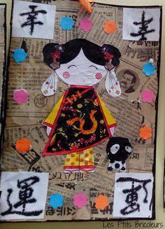 La Chine - lesptitsbricoleurss jimdo page! Chinese New Year Crafts For Kids, Chinese Crafts, Art For Kids, New Year Art, Moon Crafts, Japan Crafts, Art Chinois, Art Asiatique, New Year's Crafts