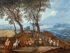 Jan Brueghel d. Ä., Reisende unterwegs  / Travellers on the Way