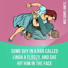 """Floozy"" means a woman who has a lot of sexual relationships. Example: Some guy in a bar called Linda a floozy, and she hit him in the face. Learning English can be fun! Visit our website: learzing.com"