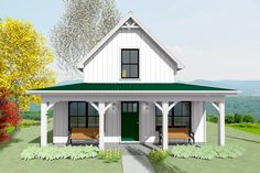 Small Cottage House Plans, Small Cottage Homes, Cabin House Plans, Small Cottages, Cottage Plan, Small House Plans, House Floor Plans, Small Cabins, Architectural Design House Plans