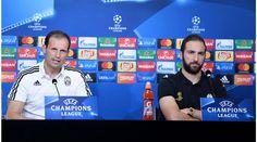 Juventus: Allegri e Higuain presentano la sfida di Champions League, le immagini - Tuttosport