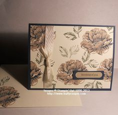 Stippled Blossoms, Stampin' Up!  Created by Ruth Burris for our Team Meeting