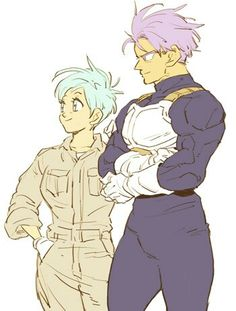 Future Trunks & Future Bulma by Amepati Dragon Ball Z, Dragon Ball Image, Disney Marvel, Bulma Y Trunks, Nerd, Dibujos Cute, Z Arts, Anime Comics, Anime Couples