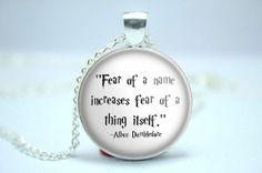 Harry Potter  quote Albus Dumbledore pendant cabochon by PendArte, $9.00