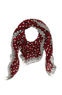 Striped Honeycomb Scarf - Accessories - Womens - Armani Exchange