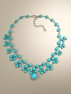 ARRANGEMENT OF BEADS Talbots - Bead-Drop Necklace | Jewelry |