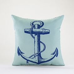 Cost Plus World Market's Anchor Throw Pillow will really tie together the whole nautical feel of your decor.