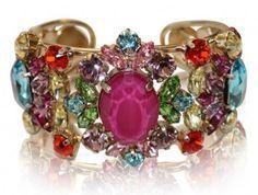 Philippe Ferrandis Multi Color Cuff Bracelet