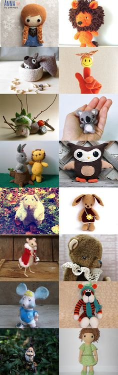 Anna And Friends  by Elinor Levin on Etsy--Pinned with TreasuryPin.com