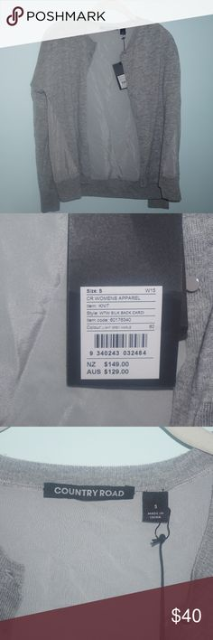 Cute grey cardigan Grey cardigan with buttons and a sheer back! From Australia ($129 AUS is $99 Dollars). Country Road Sweaters Cardigans