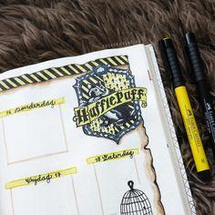 Bullet Journal – Harry Potter Hufflepuff theme