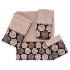 63985d5d00709 Avanti Dotted Circle Bath Towel in Linen Fingertip Towels