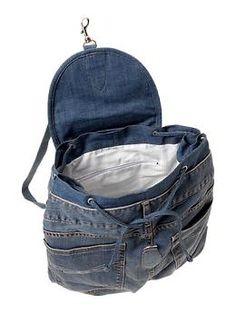 Recycled 1969 denim backpack   Gap