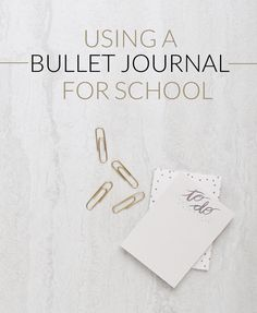 using a bullet journal for school