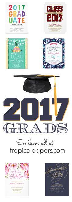 Graduation party invitations + graduation announcements Celebrate the 2017 graduates. No minimum orders!
