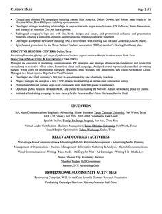 sample resume director of advertising - Sample Resume Free