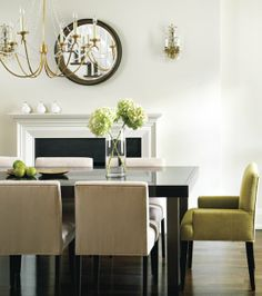 house tours, dining rooms, interior, dine room, fireplac, color, dining chairs, dining room chairs, elegant dining