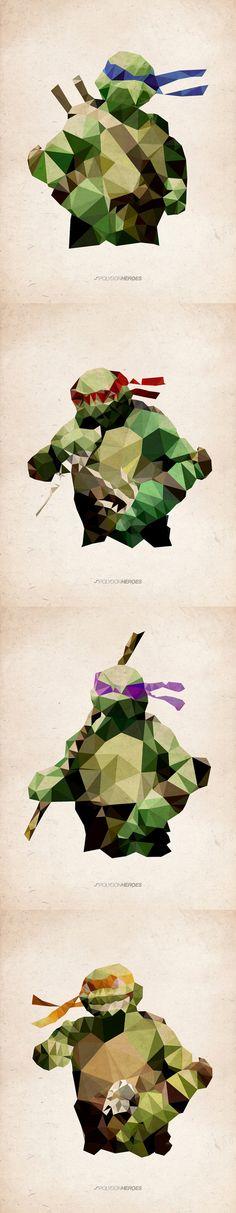 #Ninja #Turtles Polygon   JAMES REID