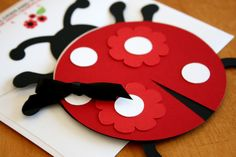 DieCut Ladybug Invitations by honeypaperieshoppe on Etsy, $150.00