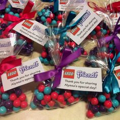 LEGO Friends Party - Thank You Candy Bags