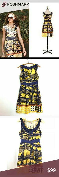 Young Baraschi Isla Dorada Anthropologie Dress 8 Like new. Silk. Beautiful -details, details, details!!! Anthropologie Dresses Midi