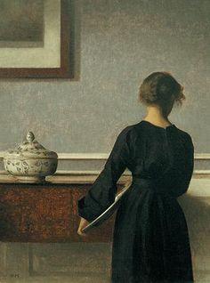Interior, 1903-04, Vilhelm Hammershoi.