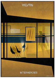 Barcelona-based illustrator and architect Federico Babina has created Interheroes, an illustrated look at the stylish interiors found in popular superhero Space Series, Comic Layout, Marvel Xmen, Poster Series, Comic Character, Architecture Design, Illustration Art, Wolverine, Graphic Design