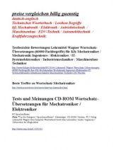 Preise vergleichen: Technisches Woerterbuch kfz-Mechatronik / Elektrotechnik / EDV