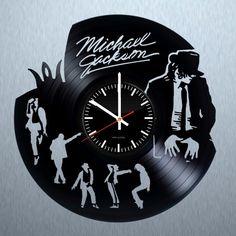 Michael Jackson Handmade Vinyl Record Wall Clock Fan Gift - VINYL CLOCKS