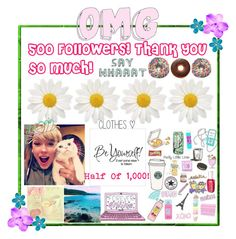 """""""500 Followers!"""" by flowers8989 ❤ liked on Polyvore featuring art"""
