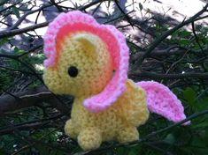 Fluttershy My Little Pony crocheted amigurumi plush