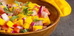 LOVE mango salsa!!!! Great with chips, or on shrimp tacos, halibut....perfect spring/summer addition!