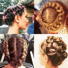 these #bridal #braids by @the_braid_bar (top) & @cloandflo (bottom) such elegant and fuss free styles #bridalbraid #bridalhair #bridebeauty #hairinspiration #braided #weddinghair #weddinginspiration #bridetobe #weddingblog #weddingblogger