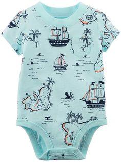 Carter's Baby Boy Treasure Map Bodysuit