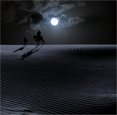 I'm on the verge of the Great Dark Desert of Nothingness. Across the night in search of you. Only the Light of Phoebe guide me...