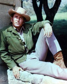 Michael Landon Color Photo Poster Or Photo Bonanza Classic Tv Western Pose