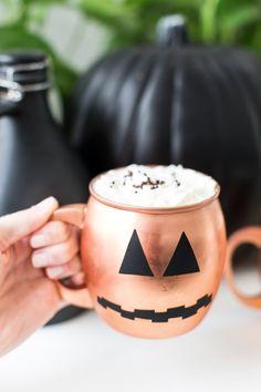 Add decals from #marthastewartcrafts to get your drinkware ready for Halloween #12MonthsofMartha